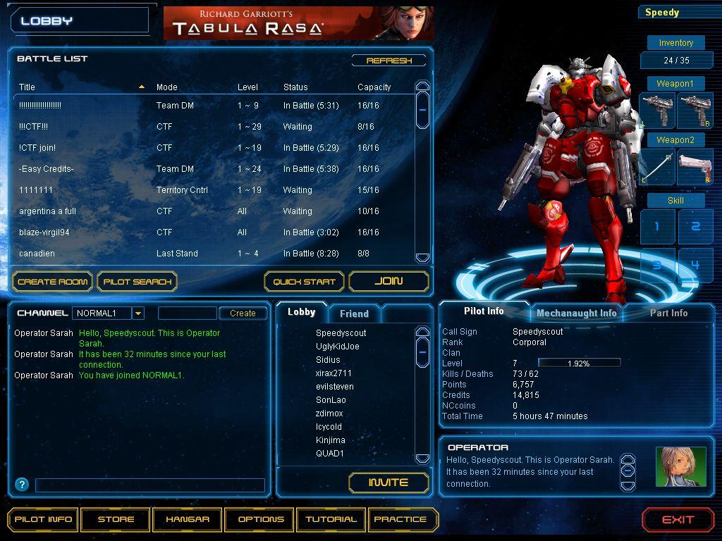 exteel mmorpg gratuit jeu en ligne jeux Lobby